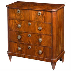 Early 19th Century Mahogany, Miniature Chest of Drawers