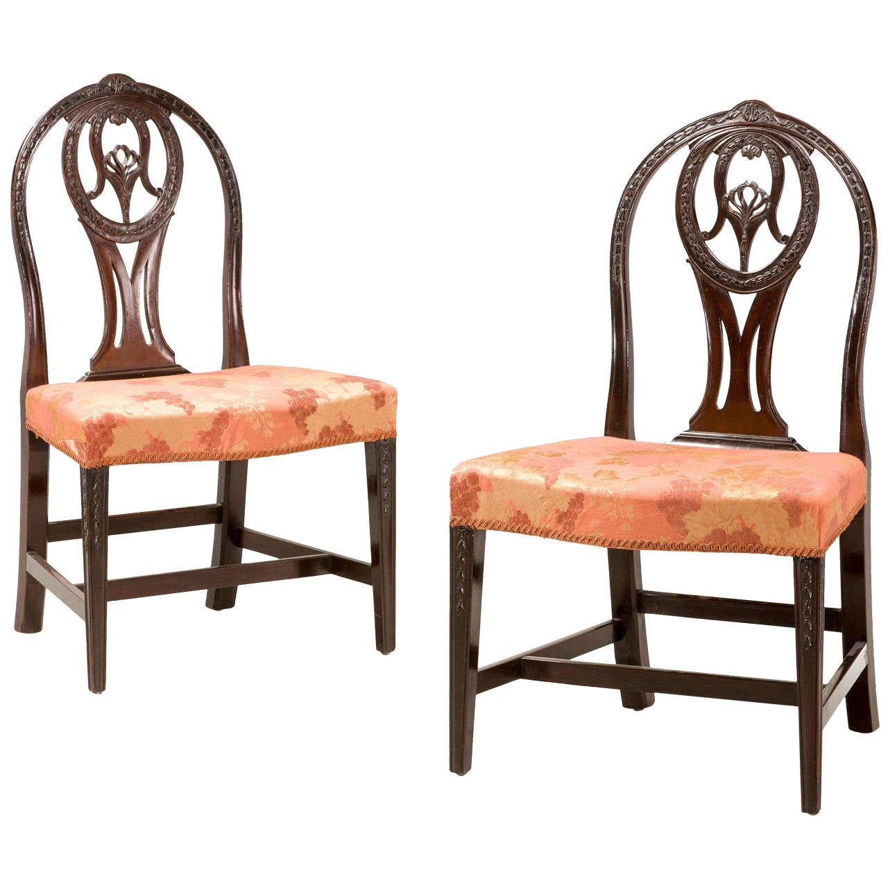 Pair of George III Irish Mahogany Chairs 1