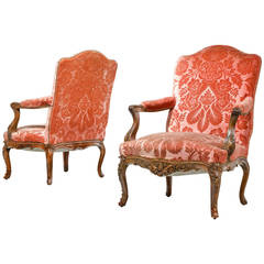 Pair of Louis XIV Design Fauteuils