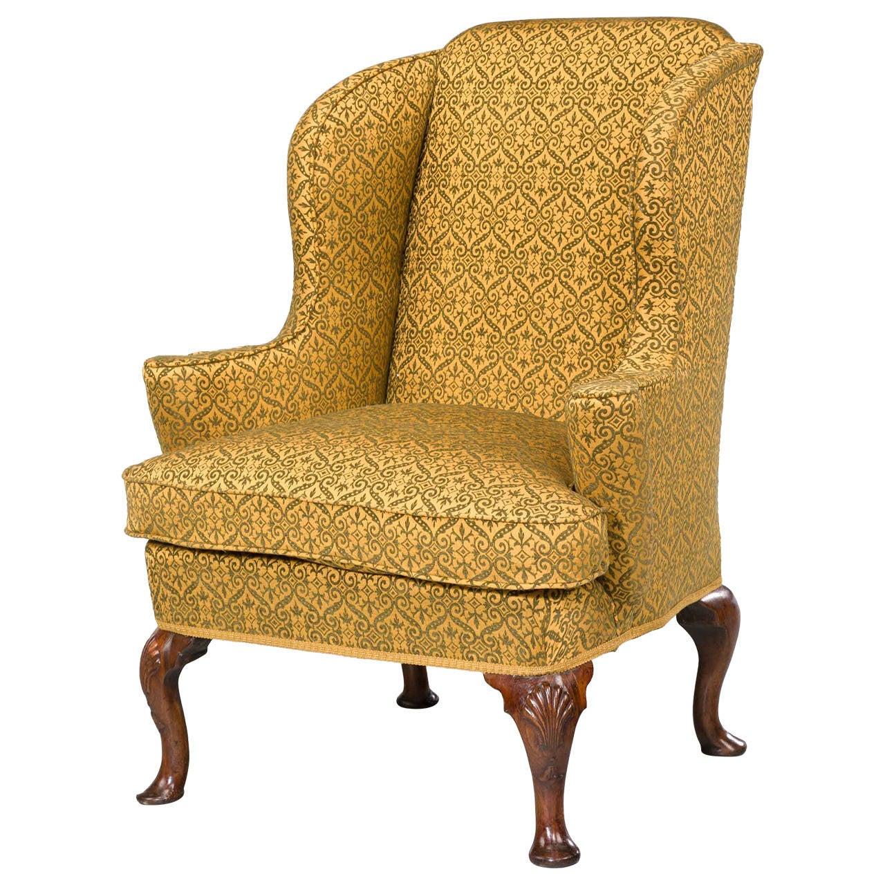 George I Period Walnut Wing Chair At 1stdibs
