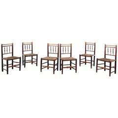 Set of Six George III Period Spindle Back Chairs
