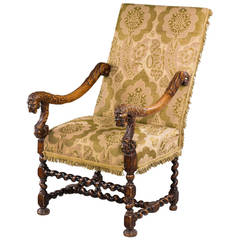 Late 17th Century Walnut Armchair