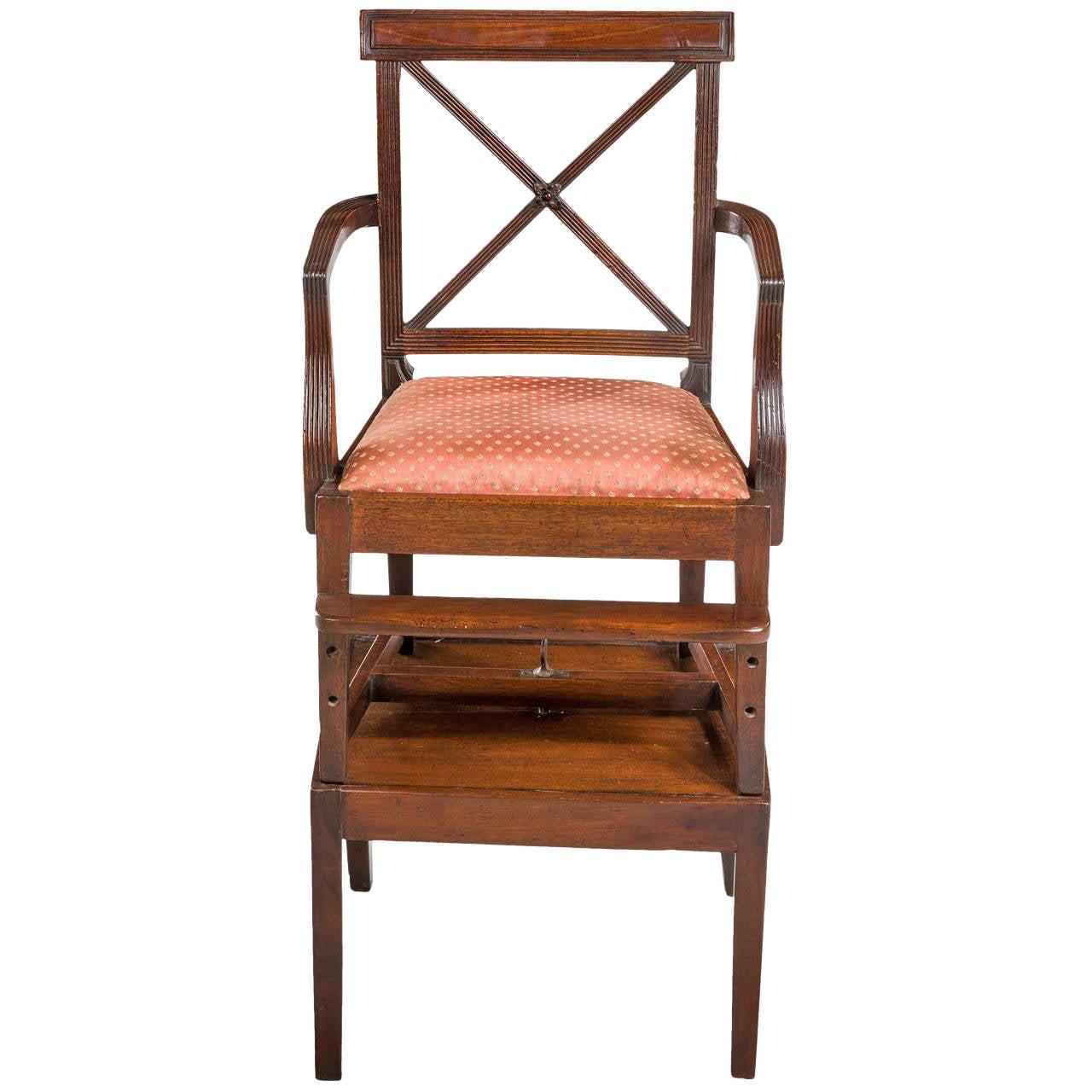 George III Period Mahogany Child's Chair