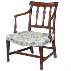 George III Period Mahogany Framed Elbow Chair