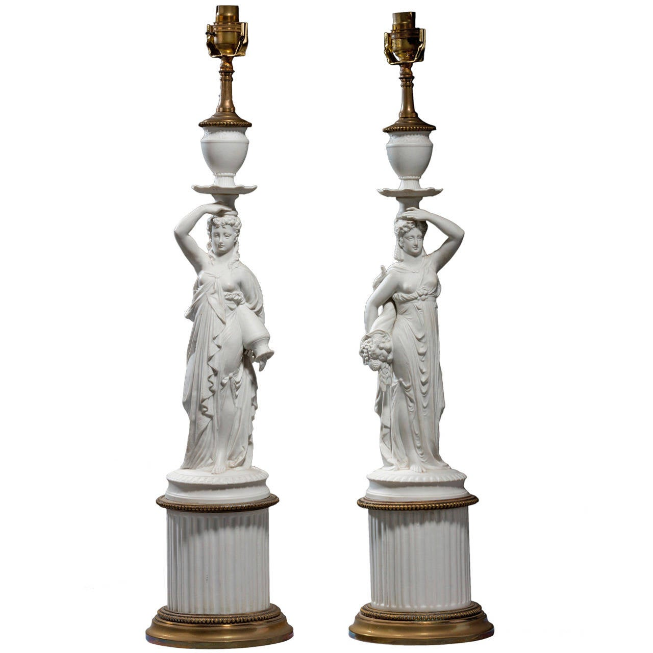 Pair of early 20th century Neoclassical Lamps