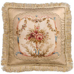 Cushion: 18th Century, Wool with Silk Highlights