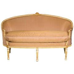 Louis XVI Period Parcel-Gilt Canapé