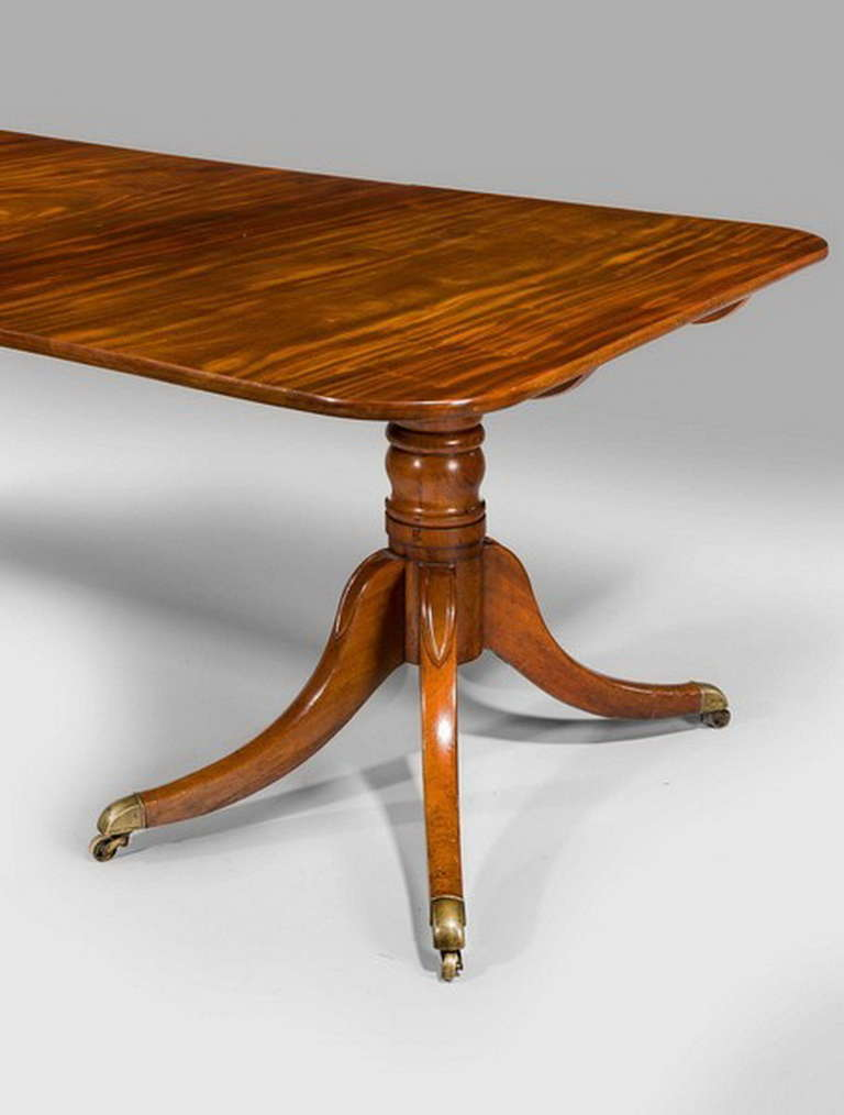 Regency Period Two Pillar Dining Table At 1stdibs