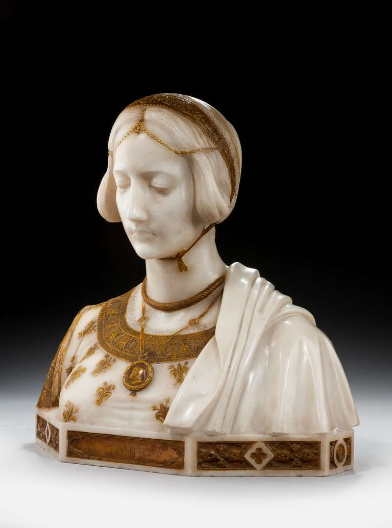Art Nouveau Bust of Laura Signed Parello In Good Condition In Peterborough, Northamptonshire
