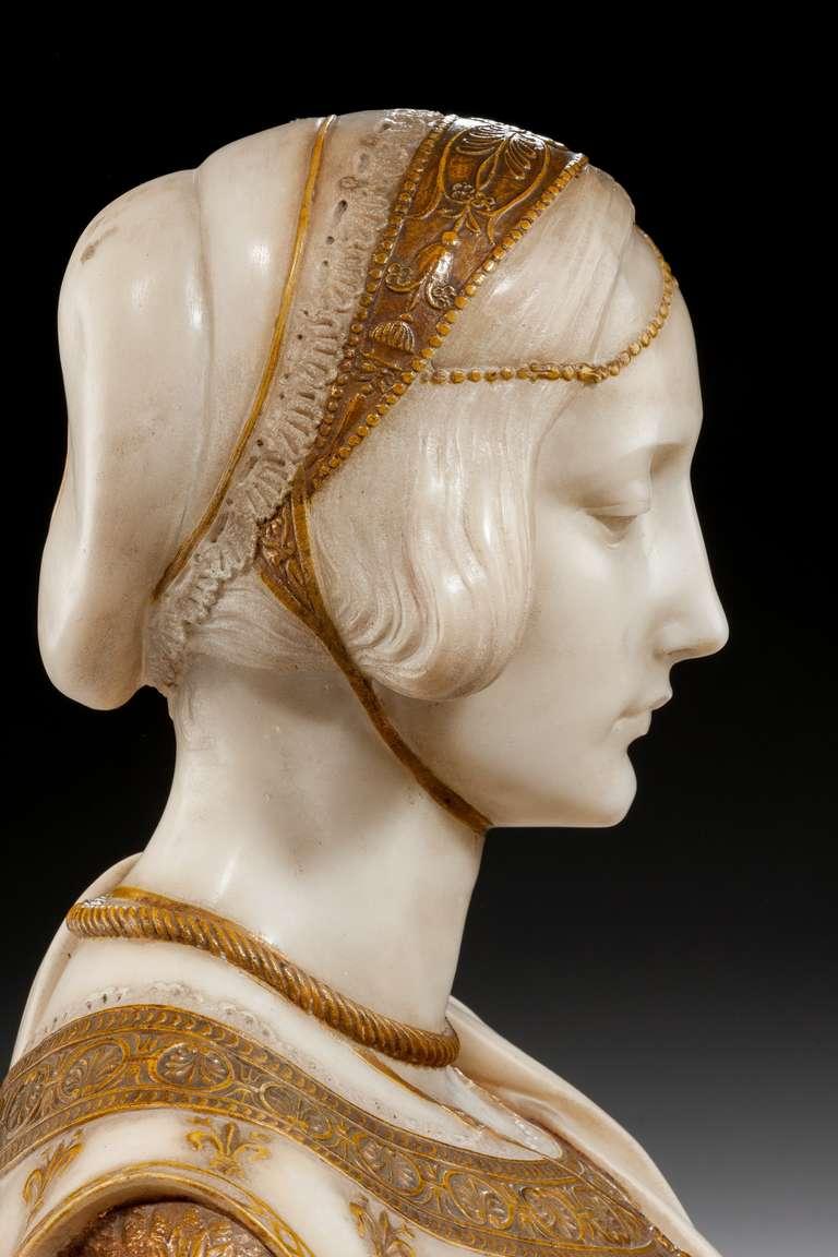 Art Nouveau Bust of Laura Signed Parello 5