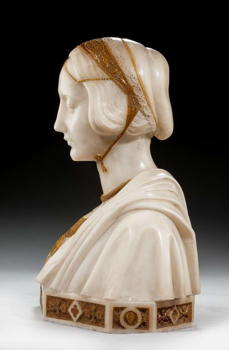 Art Nouveau Bust of Laura Signed Parello 3