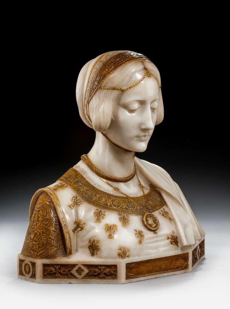 Art Nouveau Bust of Laura Signed Parello 2
