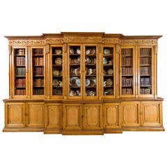 18th Century Pine Triple Breakfront Bookcase