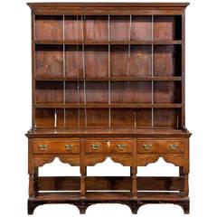 18th Century Oak Dresser and Rack