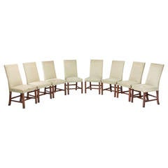 Set of Eight Chippendale Design Dining Chairs