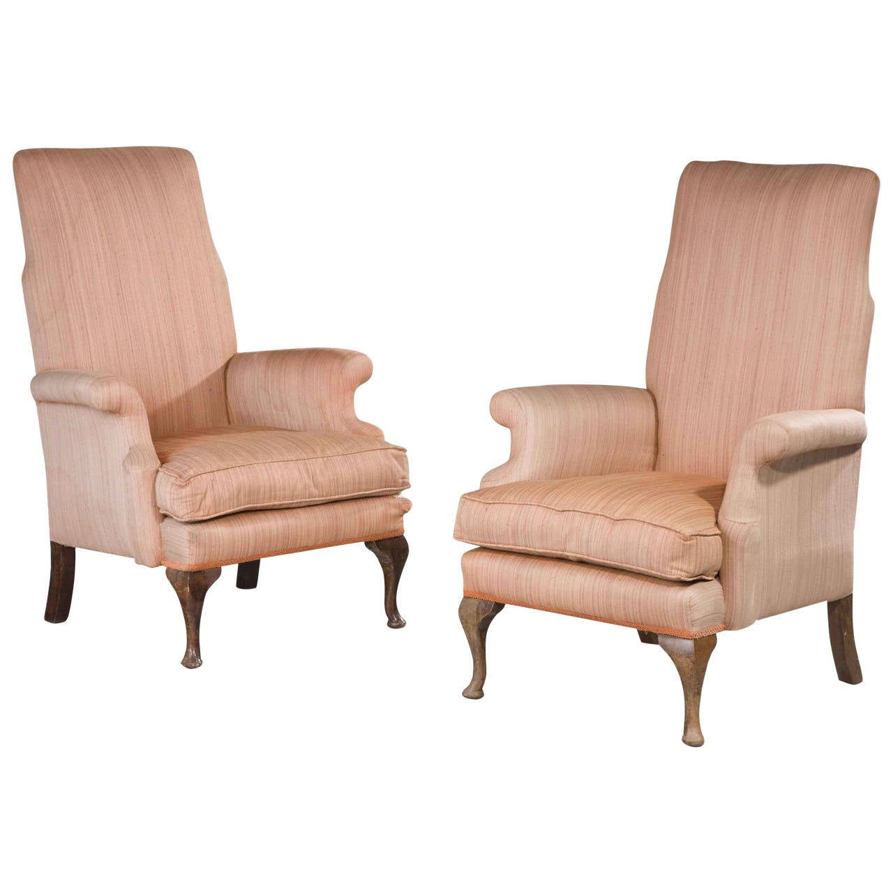 Pair of mid 20th century armchairs at 1stdibs for Mid 20th century furniture