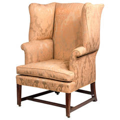 Chippendale Period Mahogany Wing Chair