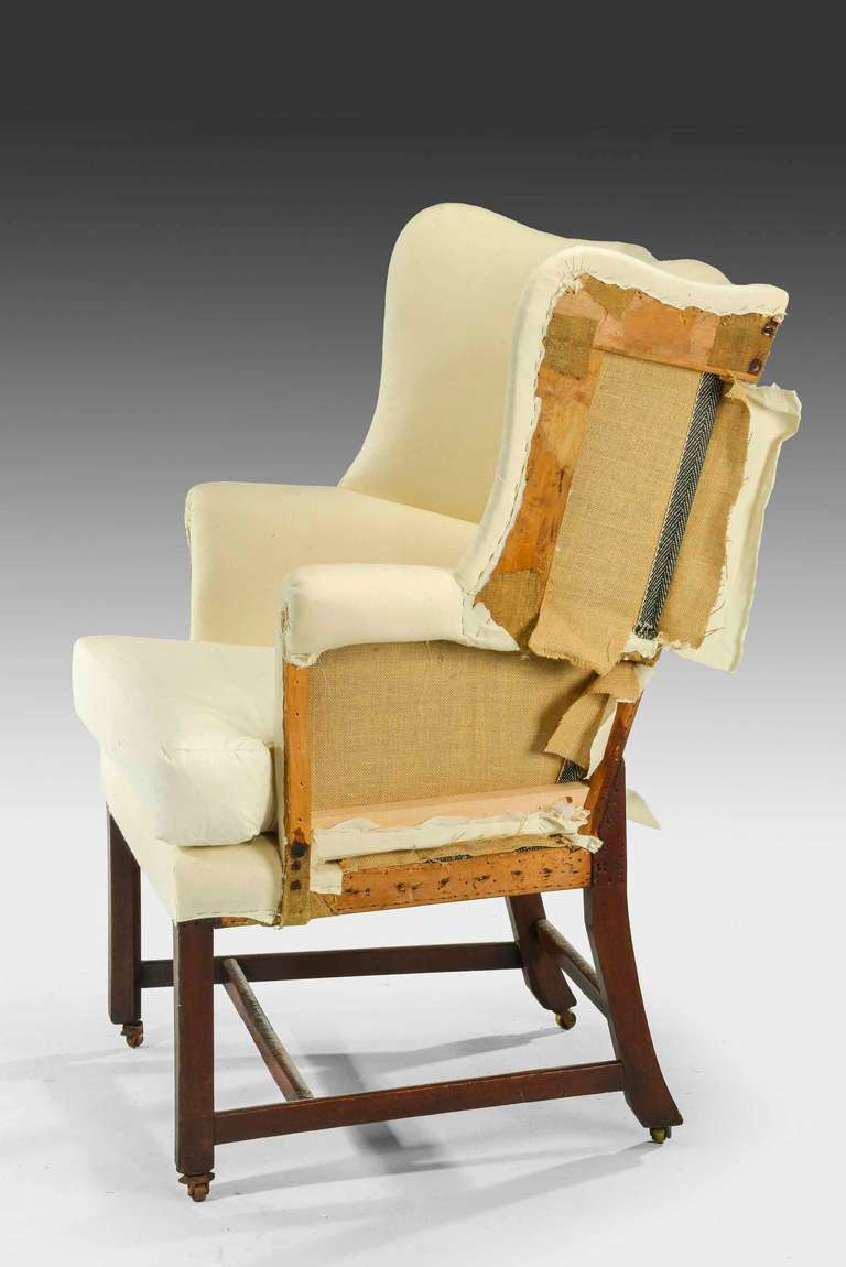 chippendale design wing chair of small proportions 3