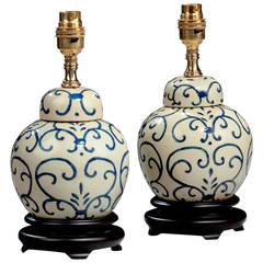 Pair of Ginger Jar Lamps