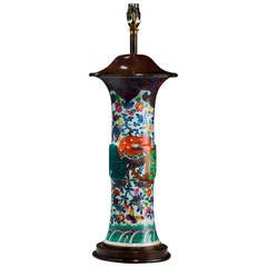 Oriental 19th Century Porcelain Vase Lamp