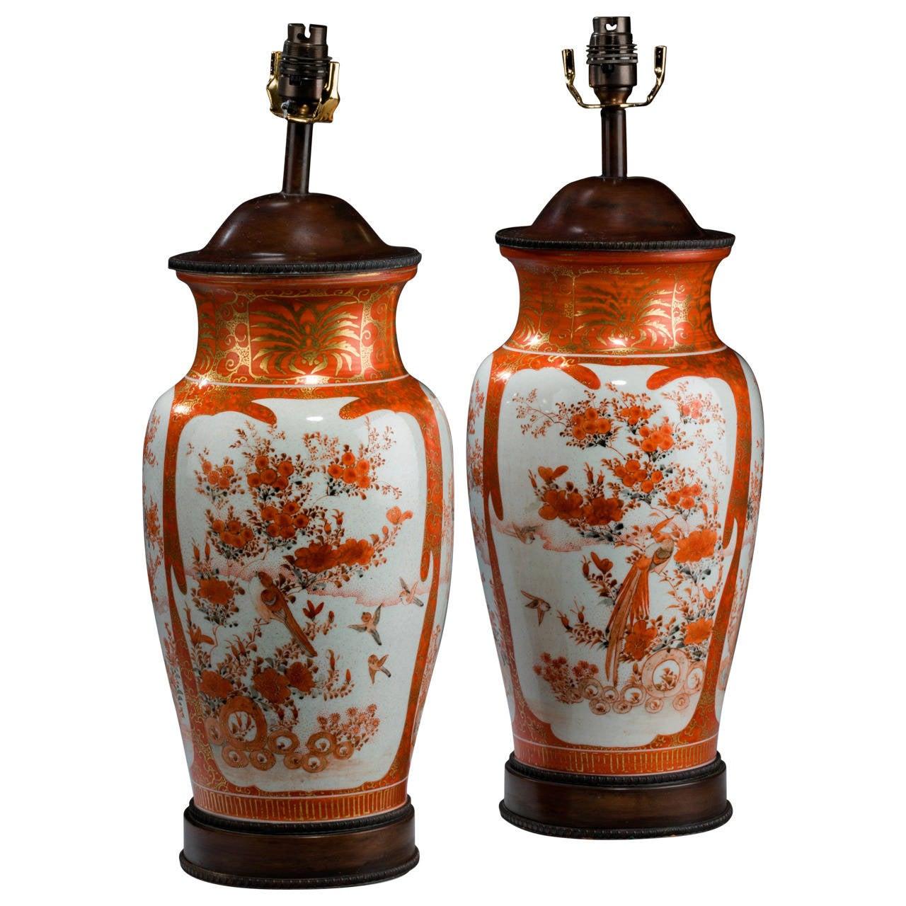 Pair of late 19th century japanese satsuma vase lamps for sale at pair of late 19th century japanese satsuma vase lamps for sale reviewsmspy