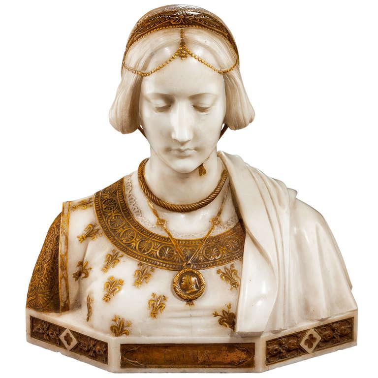 Art Nouveau Bust of Laura Signed Parello