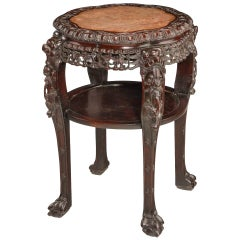 19th Century Chinese Hardwood Stand