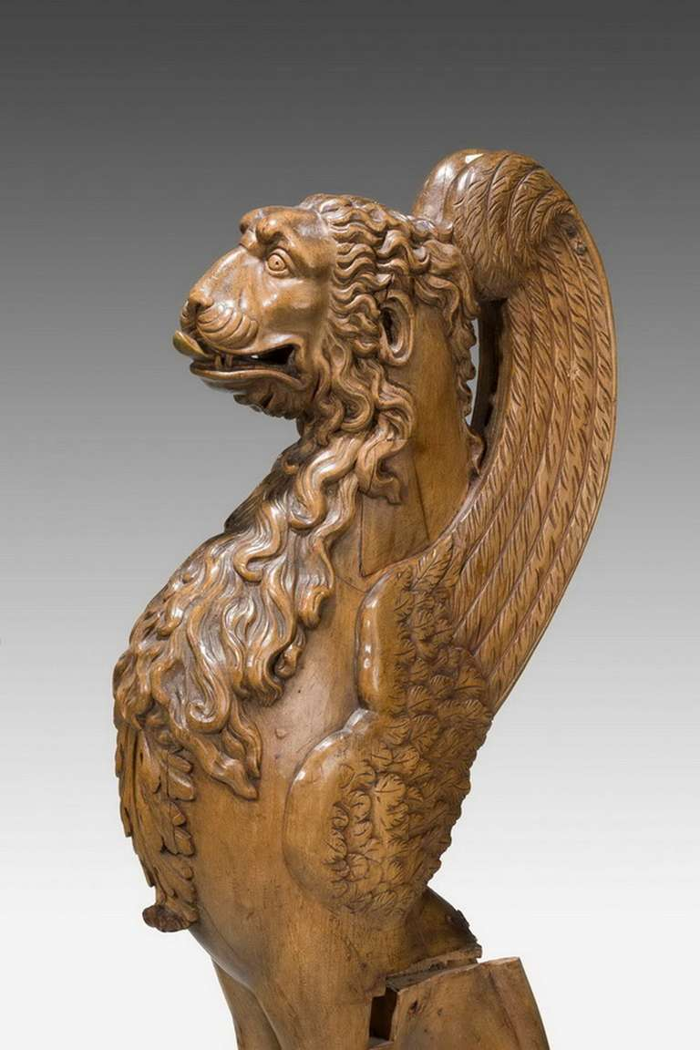 18th Century and Earlier Pair of 16th Century French Walnut Chimeras For Sale