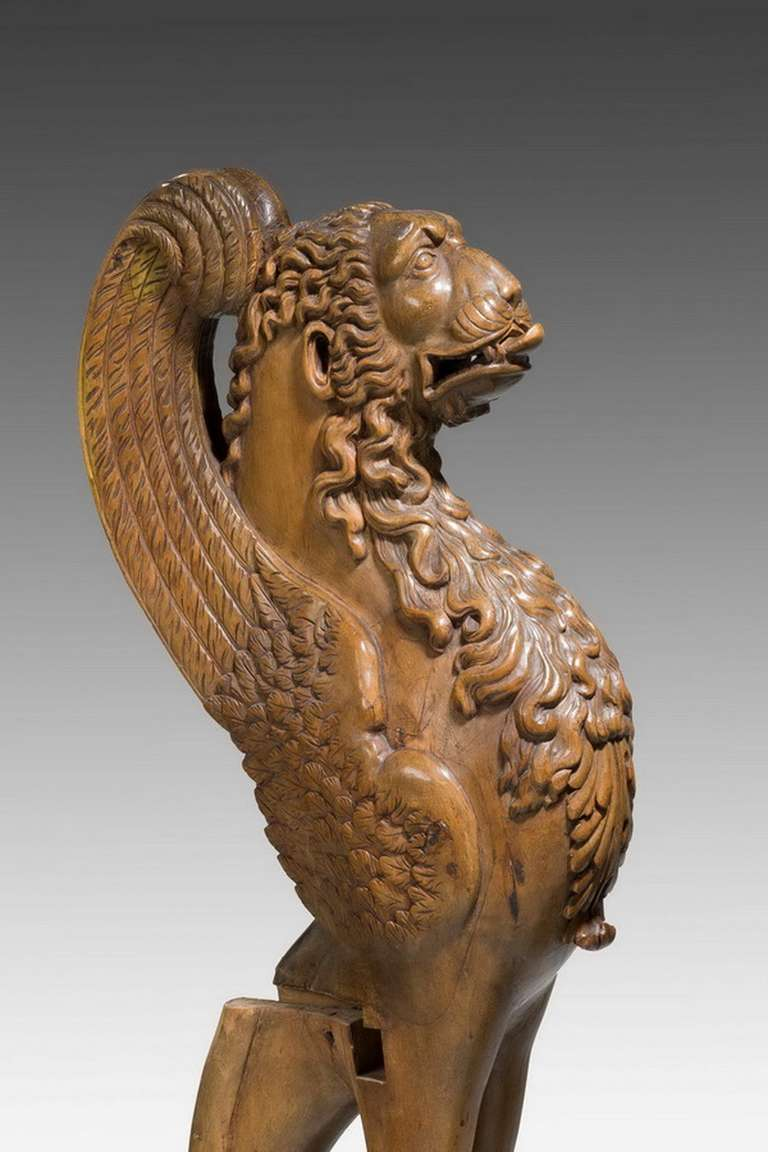 Pair of 16th Century French Walnut Chimeras For Sale 1