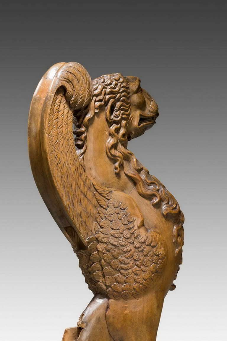 Pair of 16th Century French Walnut Chimeras For Sale 3