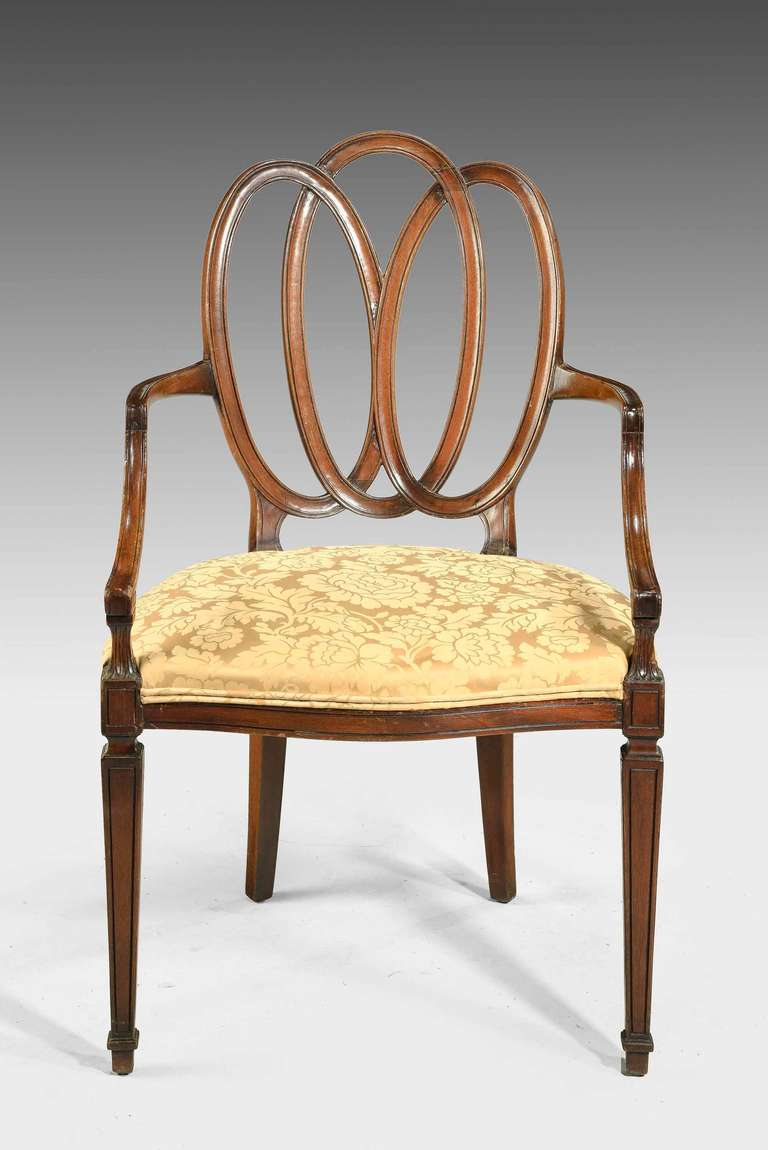 Set Of Four Hepplewhite Style Elbow Chairs At 1stdibs