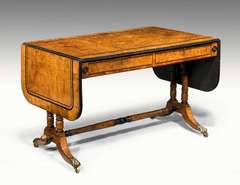 Regency Period Pollard Oak Sofa Table