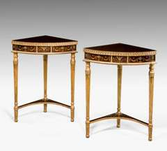Pair Of 19th Century French Corner Tables