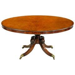 Regency Period Mahogany Circular Table