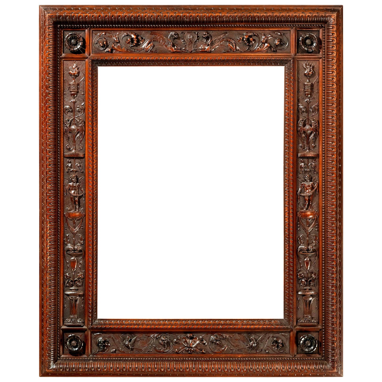 19th century carved frame in the manner of mariano coppede for sale at 1stdibs. Black Bedroom Furniture Sets. Home Design Ideas