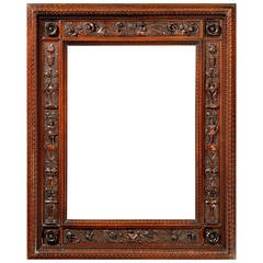 19th Century Carved Frame in the Manner of Mariano Coppede