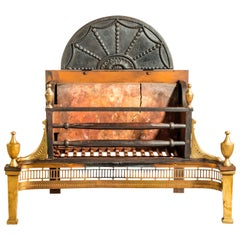 Mid-19th Century Neoclassic Fire Grate
