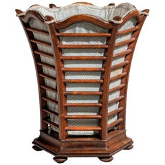 Late 19th Century Mahogany Waste Paper Basket