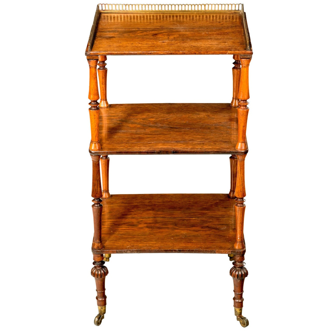 regency period rosewood etagere for sale at 1stdibs. Black Bedroom Furniture Sets. Home Design Ideas