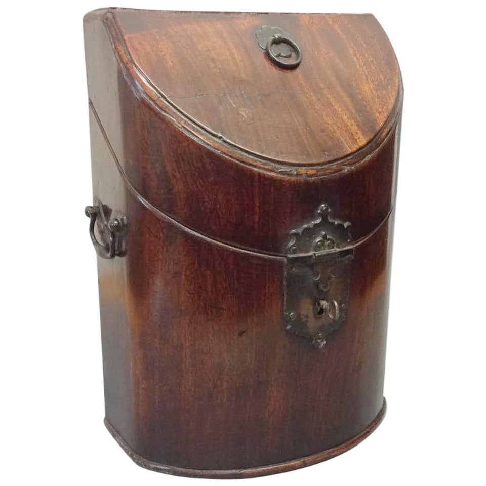 Chippendale Period Mahogany Knife Box