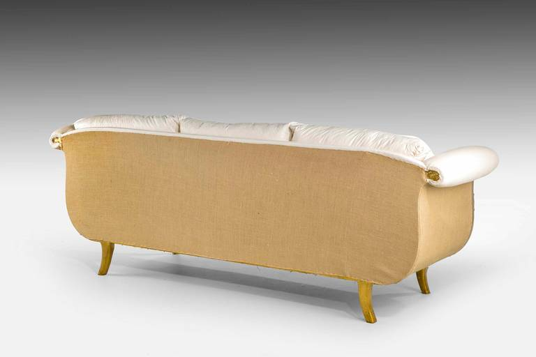 Regency Style Giltwood Sofa For Sale 3