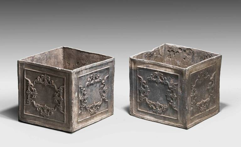 Pair of late 18th century period lead planters at 1stdibs for Lead planters for sale