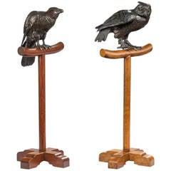 Pair of 19th Century Raptors, Meiji Period