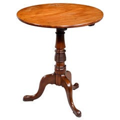 George III Period Mahogany Tilt Table with Beehive Central Section