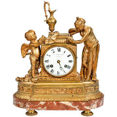 Louis XVI Period Gilt Bronze Mantel Clock