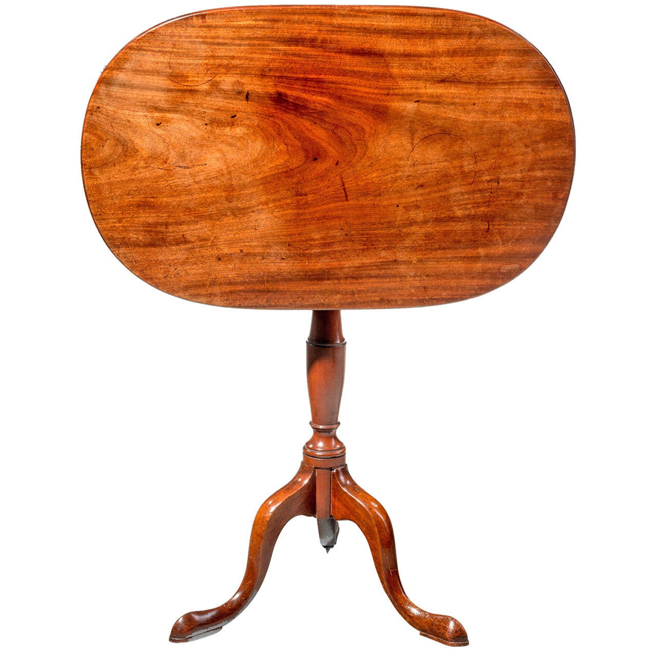 George III Period Mahogany Tilt Top Table