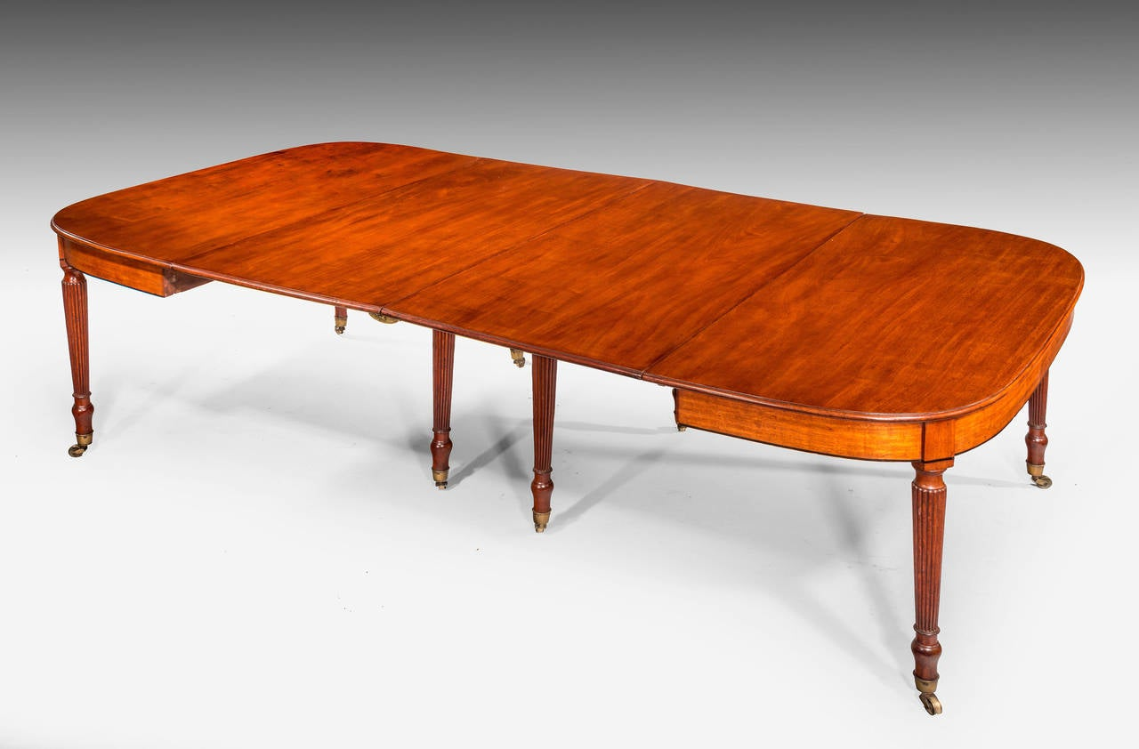 Regency Period Mahogany Dining Table With Seating For 4 To