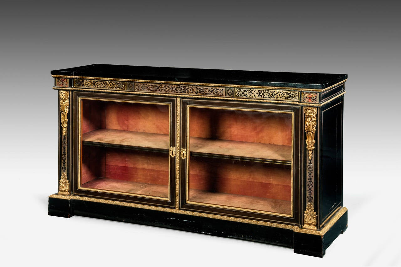 19th Century Low Bookcase China Cabinet At 1stdibs