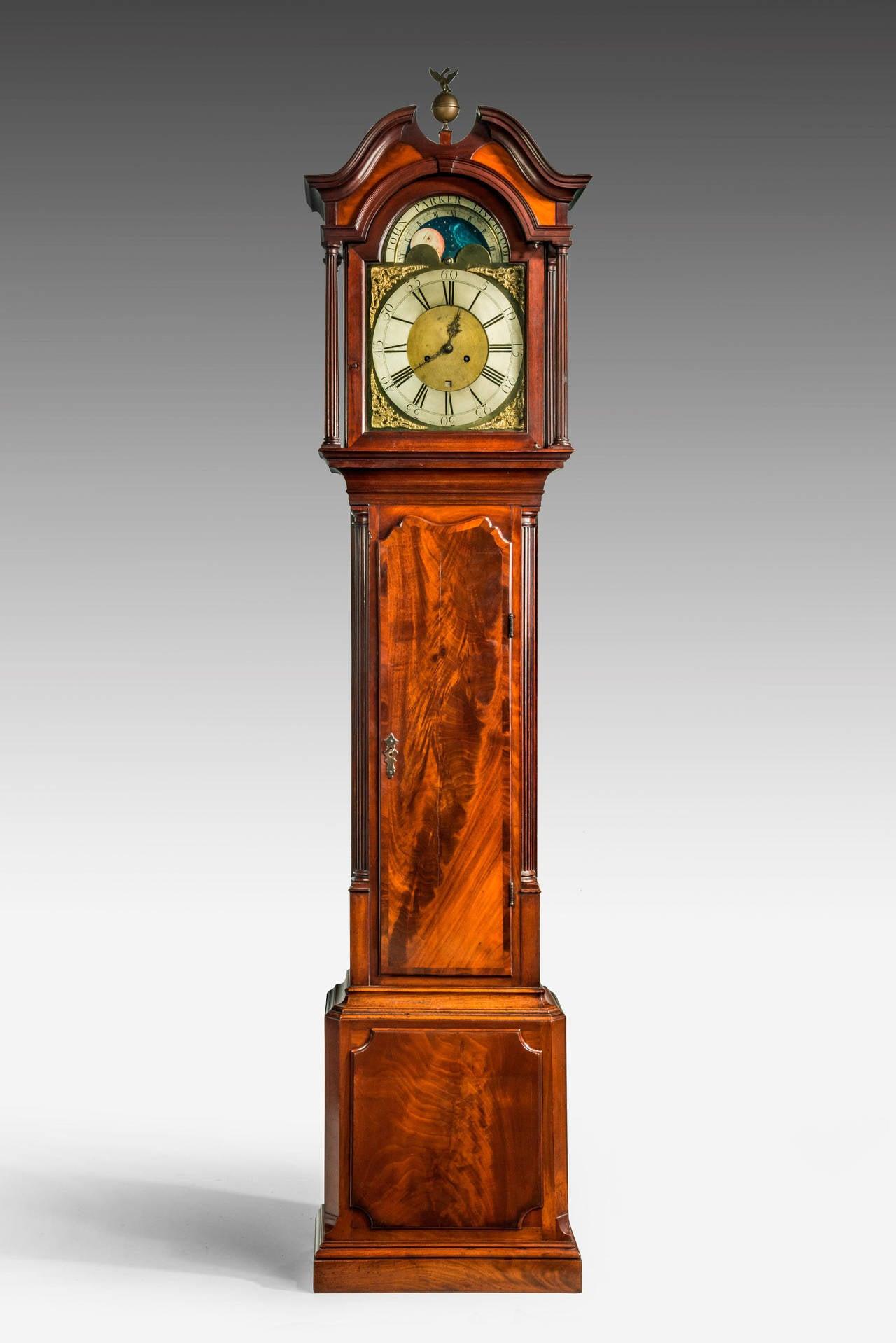 18th Century Mahogany Longcase Clock by John Parker of ...