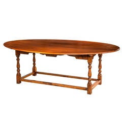 20th Century Oval Pine Dining Table